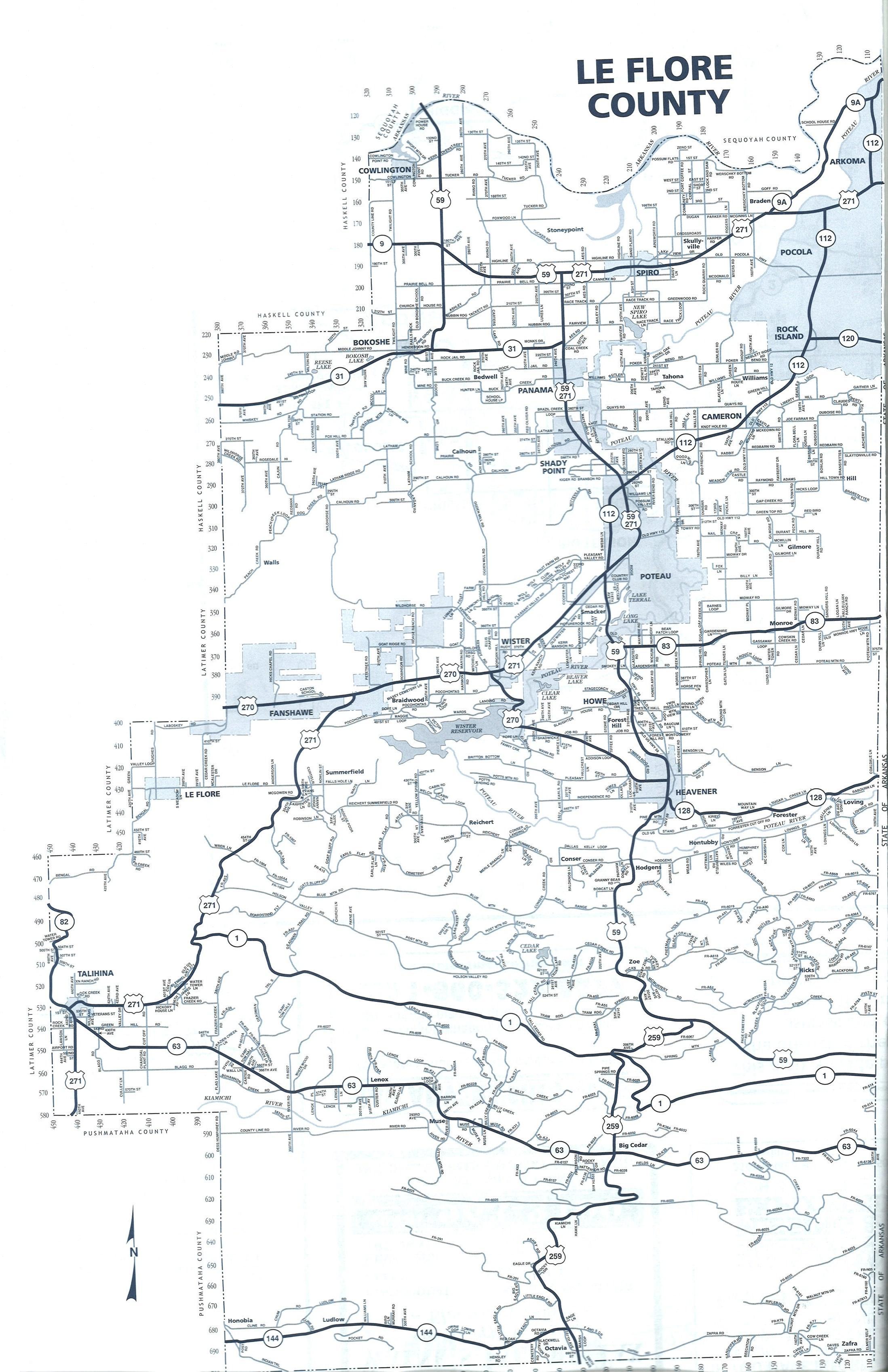 Leflore County Oklahoma Map.City Of Heavener Oklahoma Prairie Of The Tall Grass